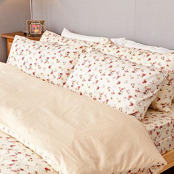 床包/單人【田園童話】100%精梳棉單人床包含一件枕套