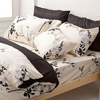 床包/單人【京都物語】100%精梳棉單人床包含一件枕套