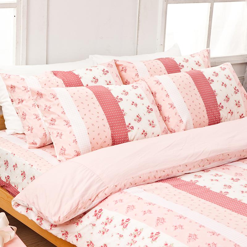 床包/單人【貴族花園】100%精梳棉單人床包含一件枕套