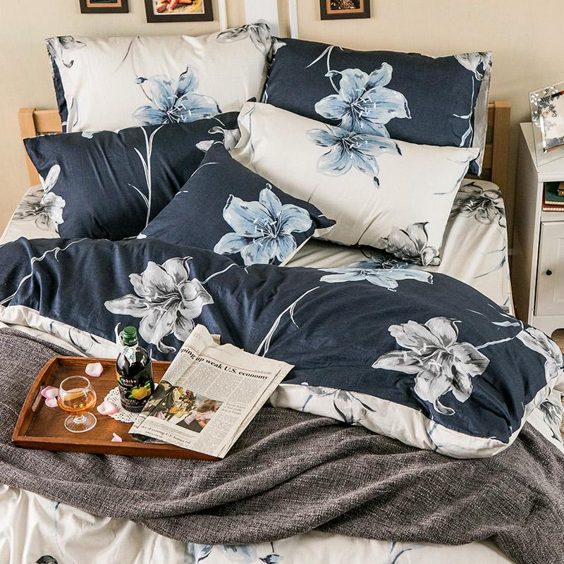 床包/單人【漫漫花徑】100%精梳棉單人床包含一件枕套
