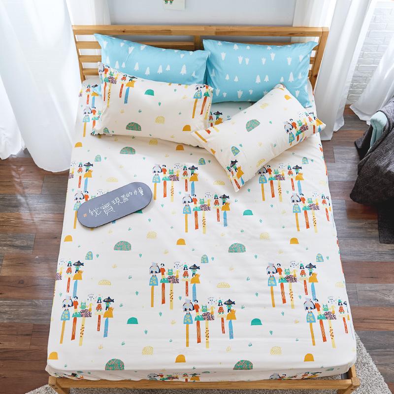 床包/單人【點點善-純真天賦】100%精梳棉單人床包含一件枕套