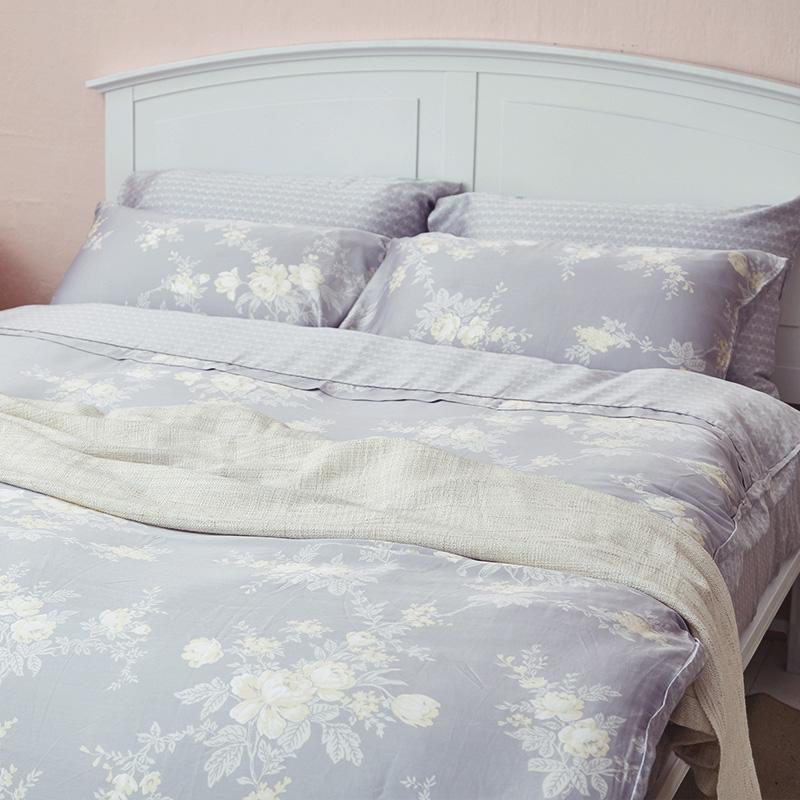 床包/單人【漫花語調】60支天絲單人床包含一件枕套