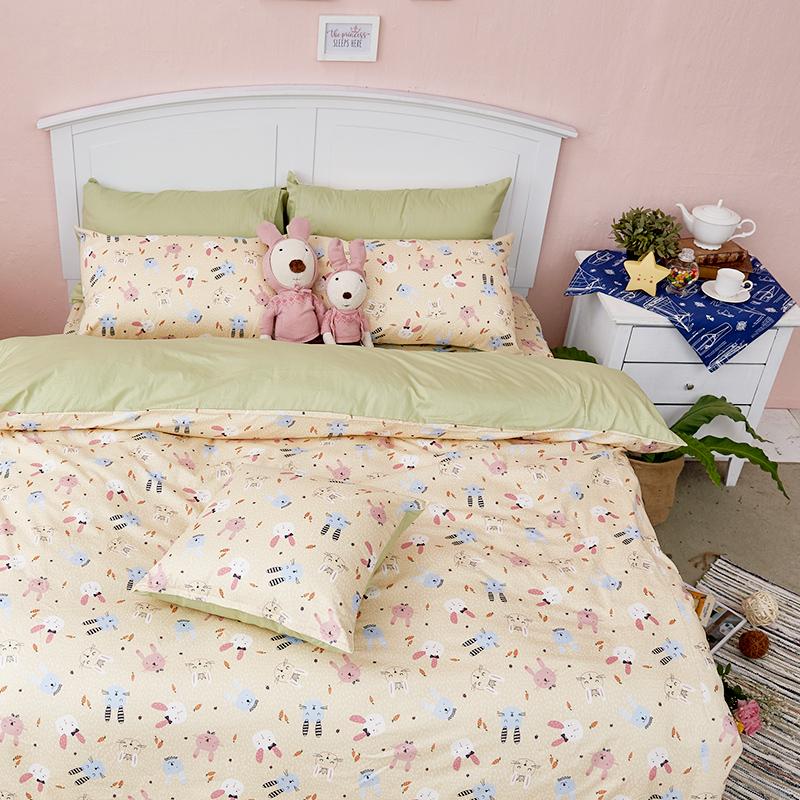 床包/單人【妮妮公主】100%精梳棉單人床包含一件枕套