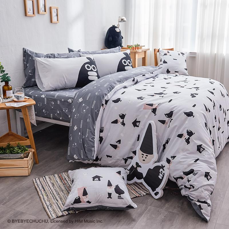 床包/單人【掰啾普拉斯】100%精梳棉單人床包含一件枕套