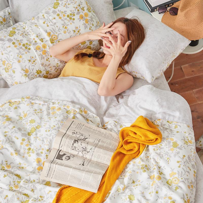 床包/單人【南法蝶花】60支天絲單人床包含一件枕套