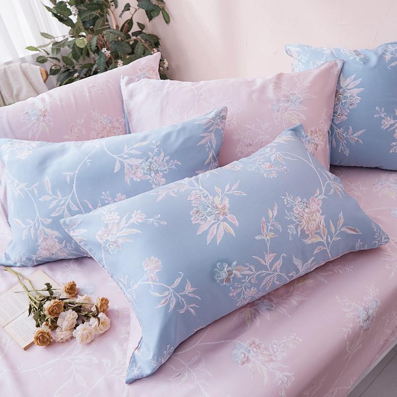 床包/單人【綠葉扶花】60支天絲單人床包含一件枕套