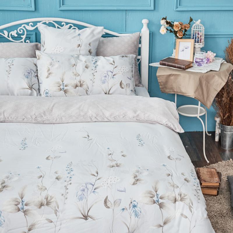 床包/單人【微月遠蝶】60支天絲單人床包含一件枕套