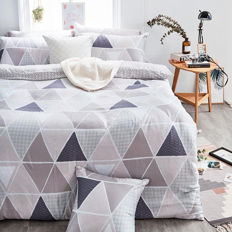 床包/單人【北歐菱線】60支天絲單人床包含一件枕套