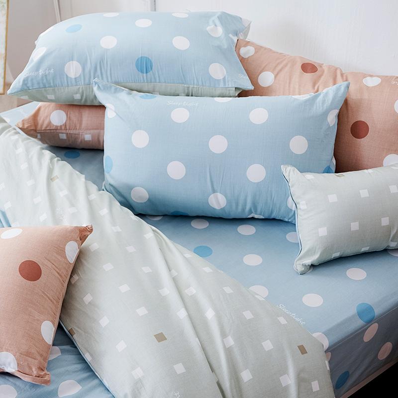 床包/單人【點點小宇宙水星藍】100%精梳棉單人床包含一件枕套