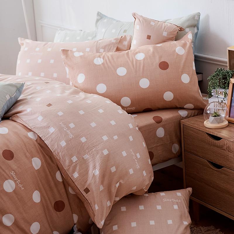 床包/單人【點點小宇宙火星土】100%精梳棉單人床包含一件枕套