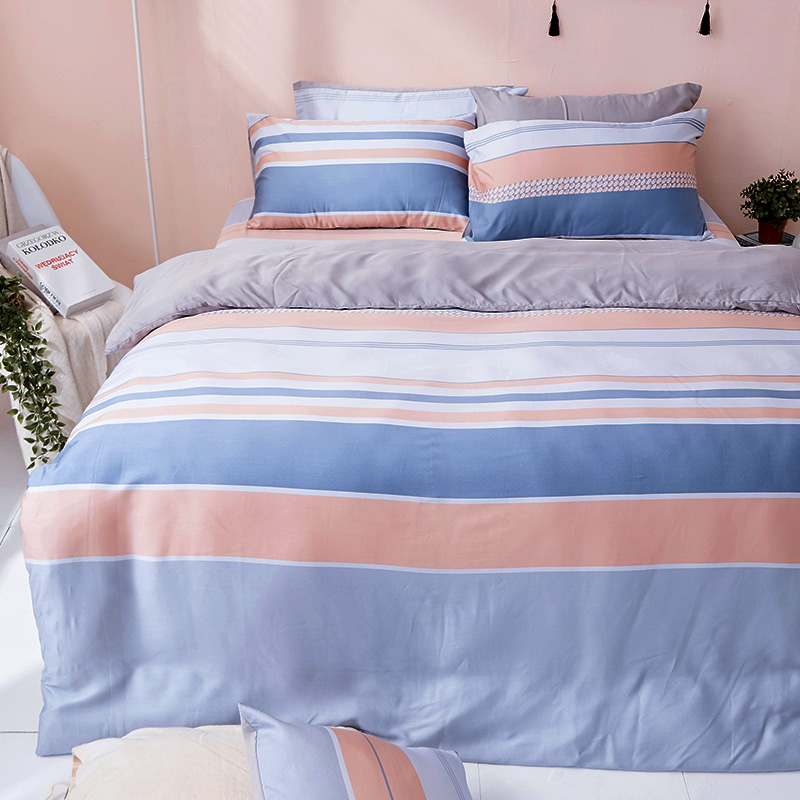 床包/單人【莫藍序曲】60支天絲單人床包含一件枕套