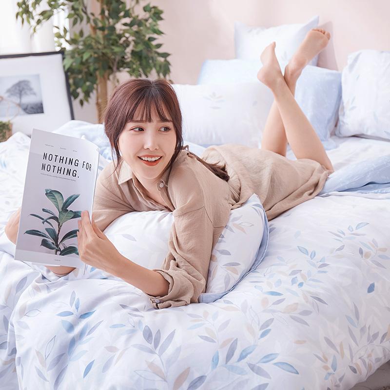 床包/單人【小樹之歌】40支天絲單人床包含一件枕套