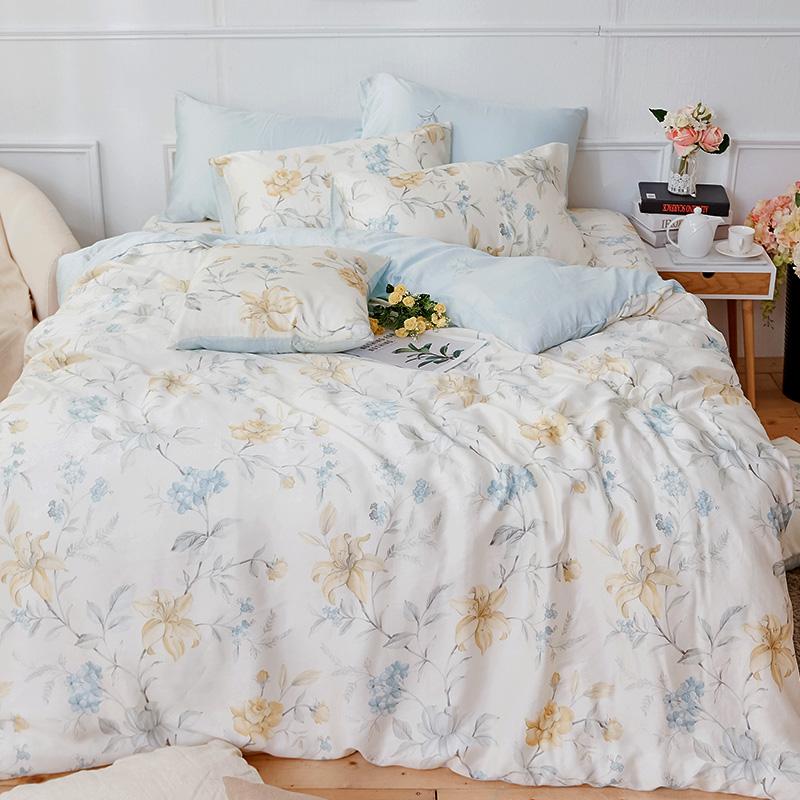 床包/單人【恬淡花晴】40支天絲單人床包含一件枕套