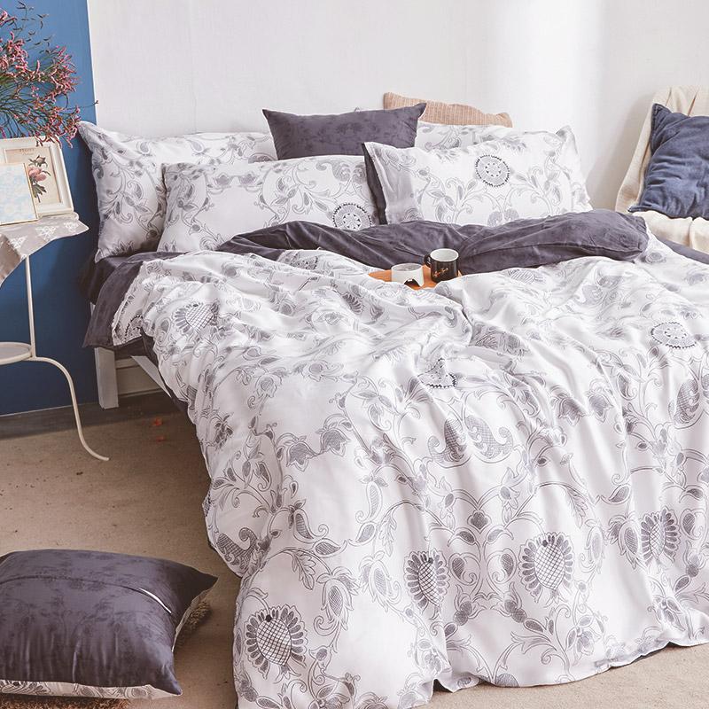 床包/單人【詩人】60支天絲單人床包含一件枕套