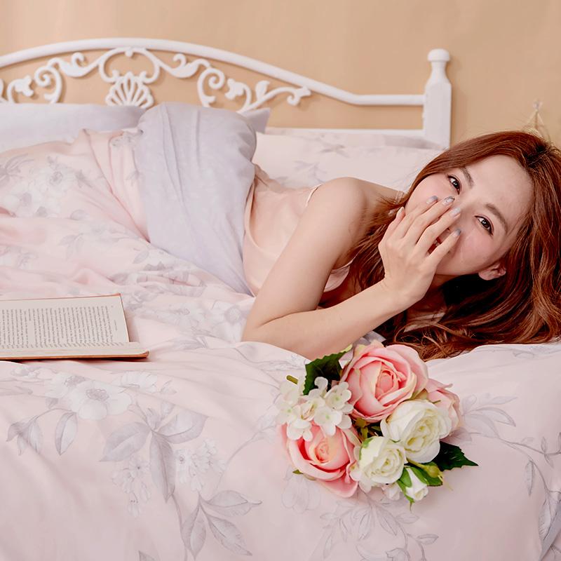 床包/單人【玫薇思】60支天絲單人床包含一件枕套