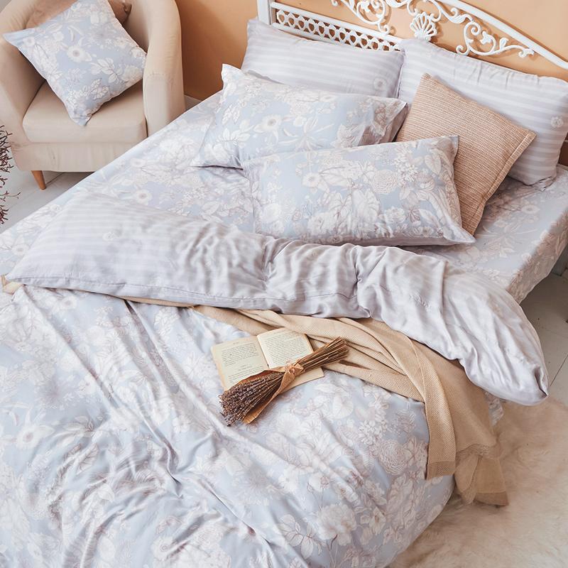 床包/單人【瓦勒莉】60支天絲單人床包含一件枕套