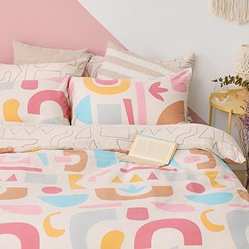 床包/單人【波特異想】60支天絲單人床包含一件枕套