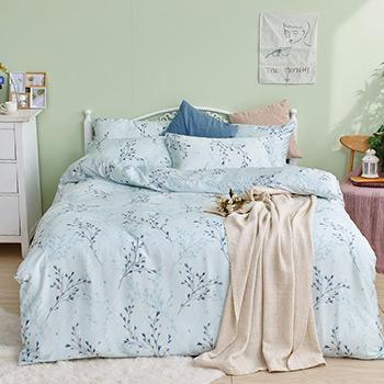 床包/單人【蔓藤星語】40支天絲單人床包含一件枕套