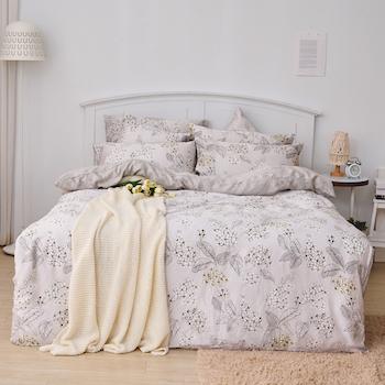 床包/單人【墨花棉繡】60支天絲單人床包含一件枕套