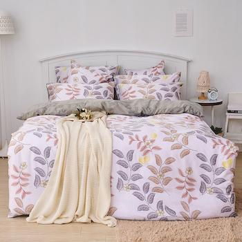 床包/單人【蔓葉舞曲】60支天絲單人床包含一件枕套