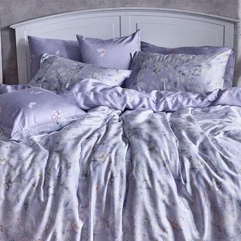 床包/單人【芋見花季】60支天絲單人床包含一件枕套
