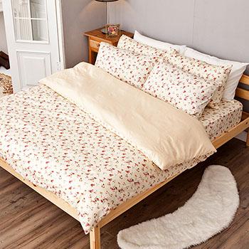 床包/雙人【田園童話】100%精梳棉雙人床包含兩件枕套