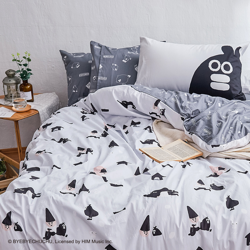 床包/雙人【掰啾普拉斯】100%精梳棉雙人床包含兩件枕套