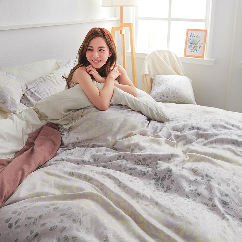 床包/雙人【綠憶】40支天絲雙人床包含二件枕套