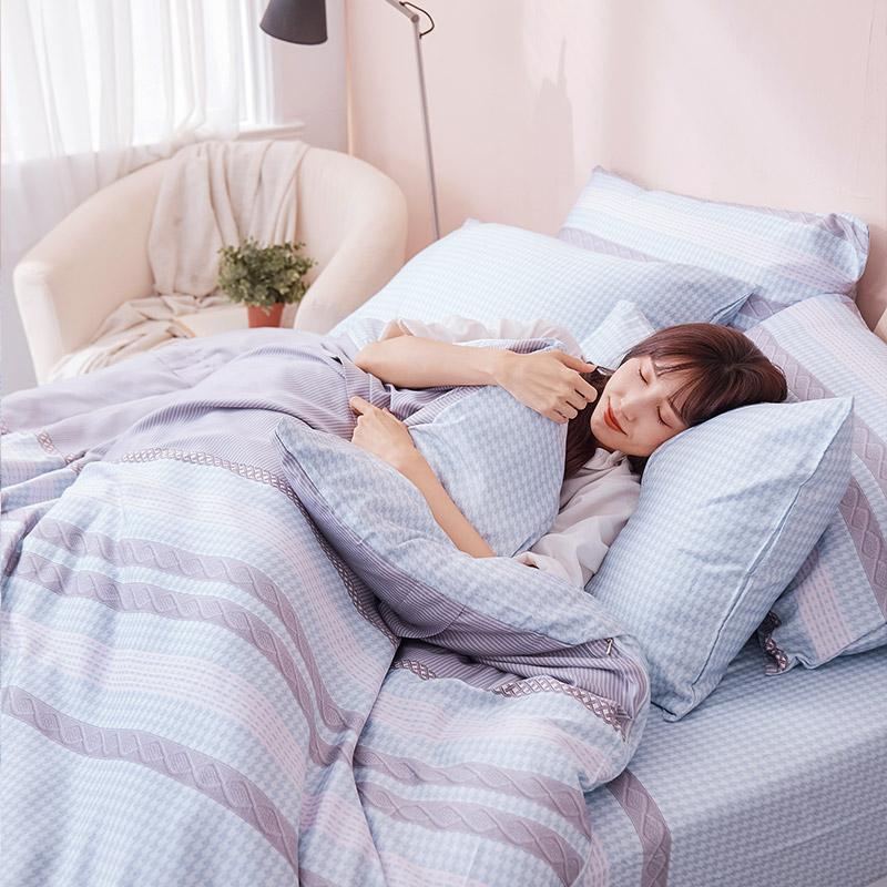 床包/雙人【阡陌交織】60支天絲雙人床包含二件枕套