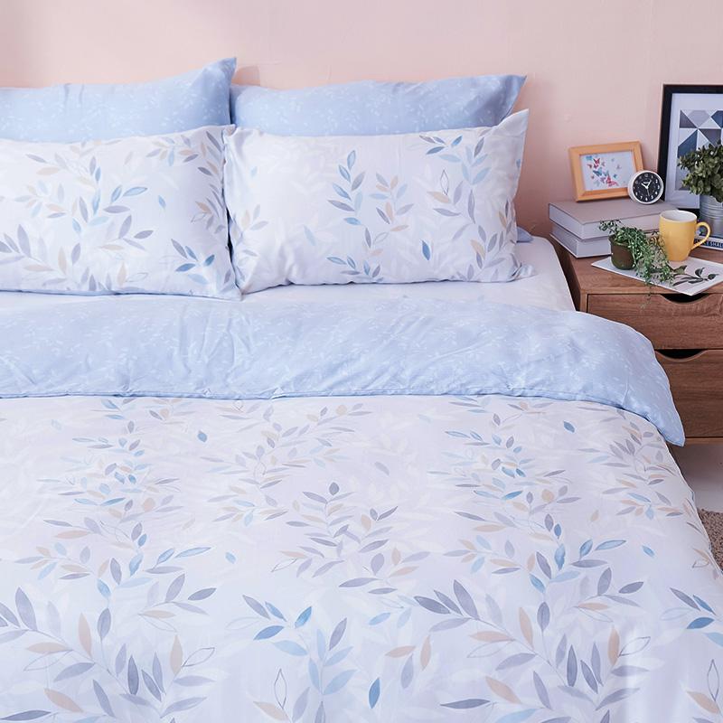 床包/雙人【小樹之歌】40支天絲雙人床包含二件枕套