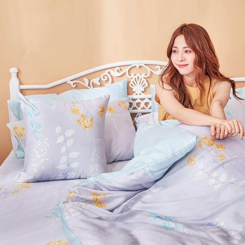 床包/雙人【珊朵拉】40支天絲雙人床包含兩件枕套