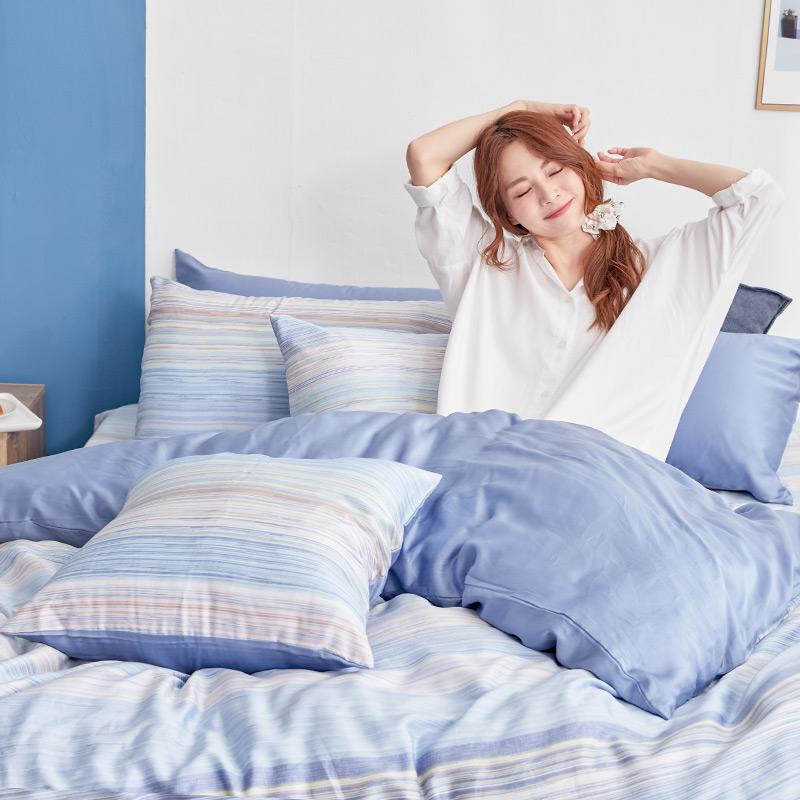 床包/雙人【歐尚】60支天絲雙人床包含二件枕套