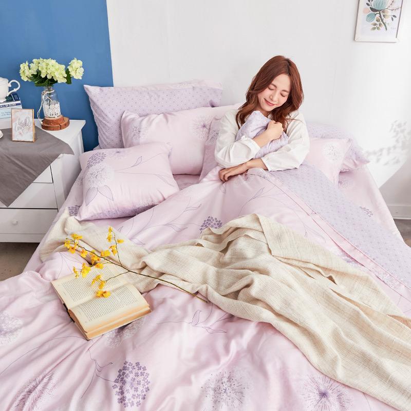 床包/雙人【蔓依】60支天絲雙人床包含二件枕套