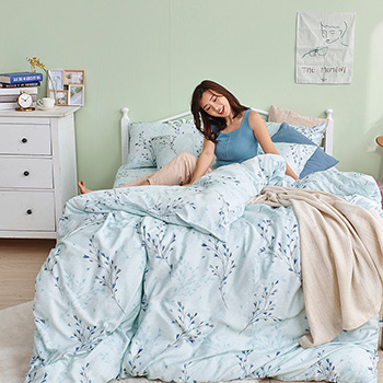 床包/雙人【蔓藤星語】40支天絲雙人床包含二件枕套