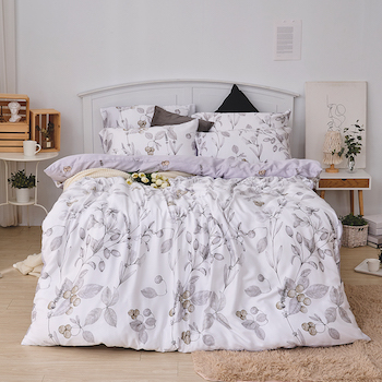 床包/雙人【凜冬果實】40支天絲雙人床包含二件枕套