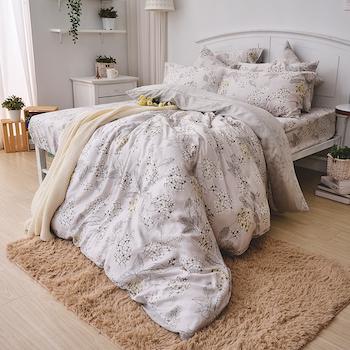 床包/雙人【墨花棉繡】60支天絲雙人床包含二件枕套