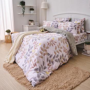 床包/雙人【蔓葉舞曲】60支天絲雙人床包含二件枕套