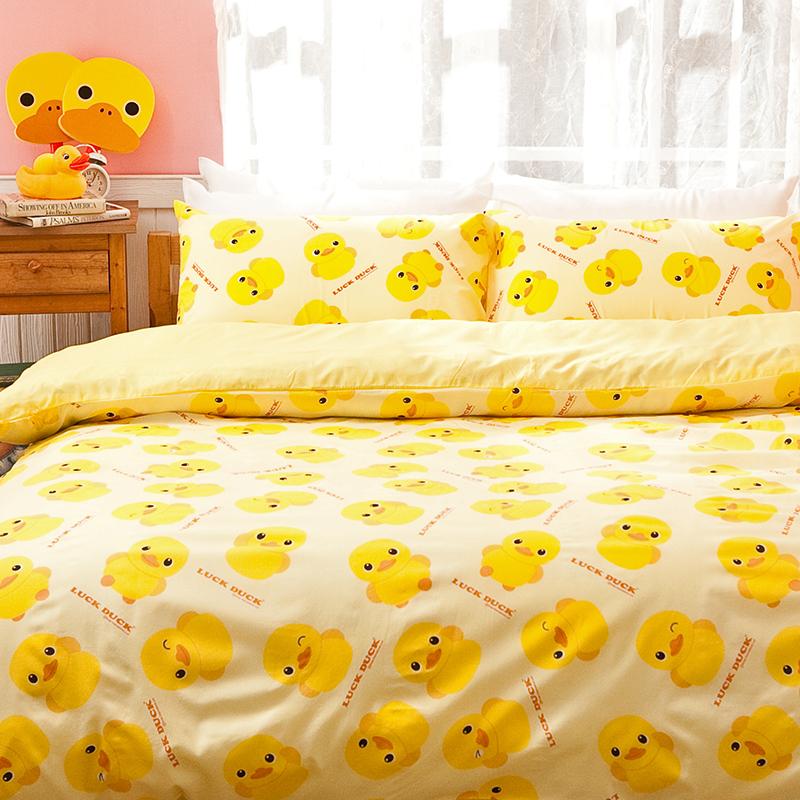 被套/雙人【黃色小鴨】高密度磨毛布雙人被套
