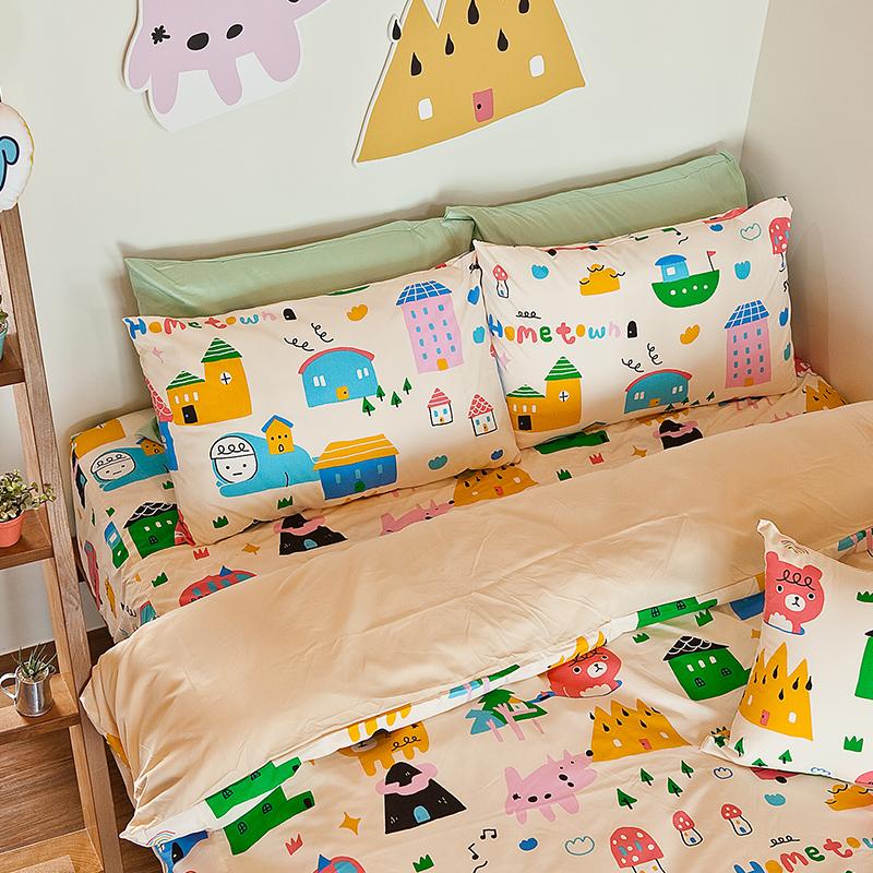 床包/雙人加大【Sweethome甜蜜的家】雪紡絲磨毛雙人加大床包含兩件枕套喂,wei聯名款