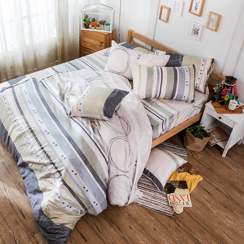床包/雙人加大【彩遊之嬉-綠】40支天絲雙人加大床包含兩件枕套
