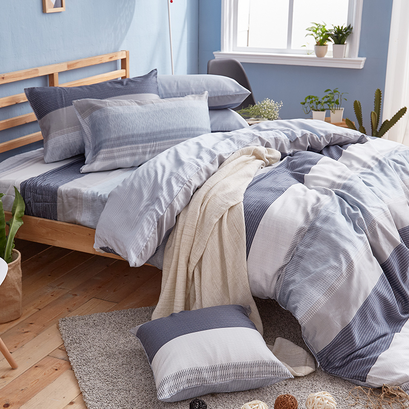 床包/雙人加大【靛藍旋律】40支天絲雙人加大床包含兩件枕套