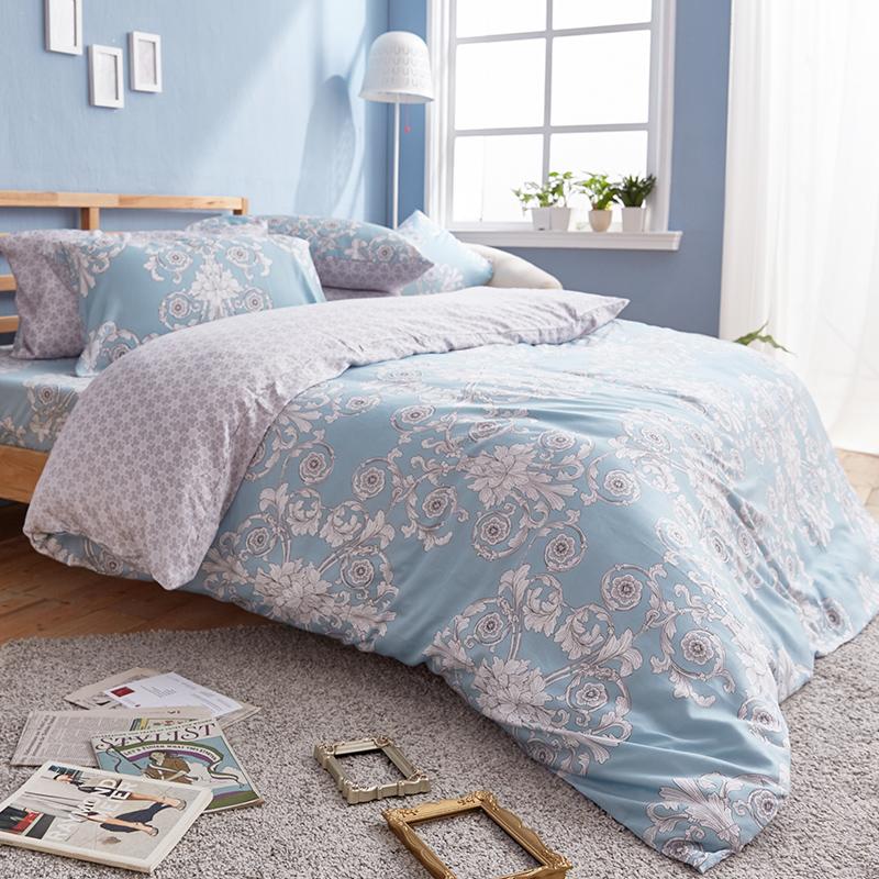 床包/雙人加大【法雅朵】40支天絲雙人加大床包含兩件枕套