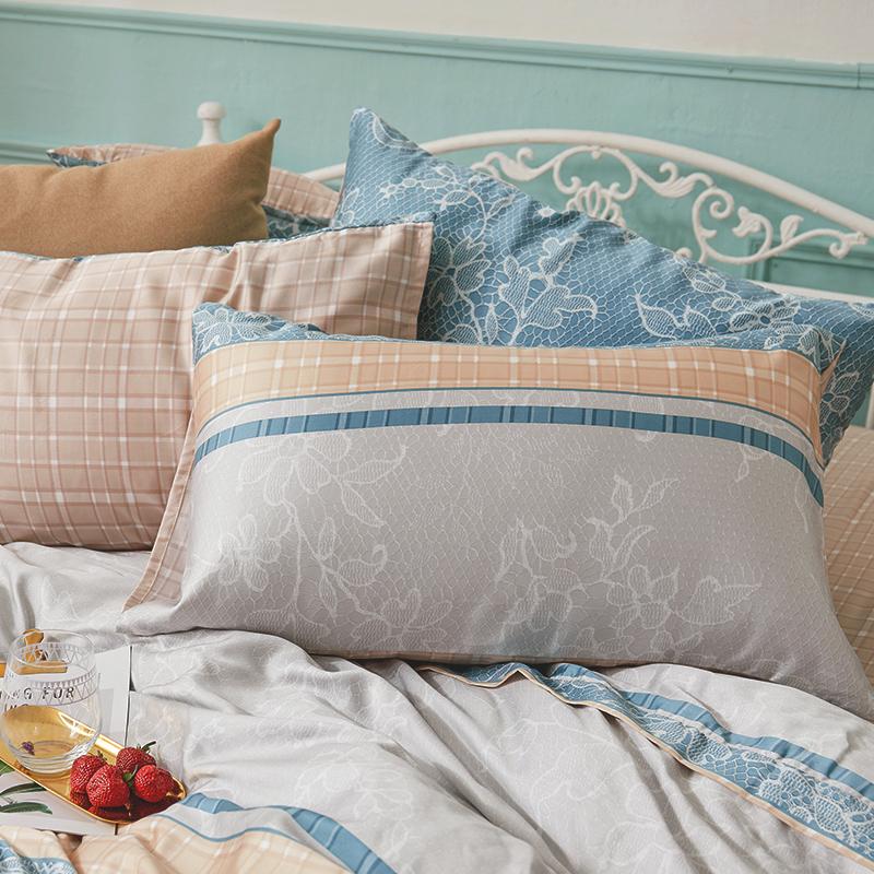 床包/雙人加大【可莉安】40支天絲雙人加大床包含兩件枕套