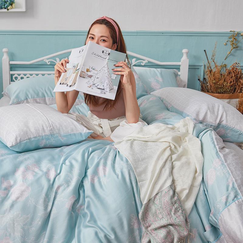 床包/雙人加大【茉凡蒂】60支天絲雙人加大床包含二件枕套