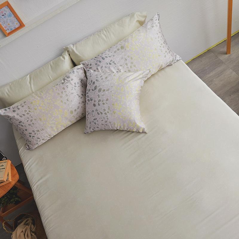 床包/雙人加大【綠憶】40支天絲雙人加大床包含二件枕套