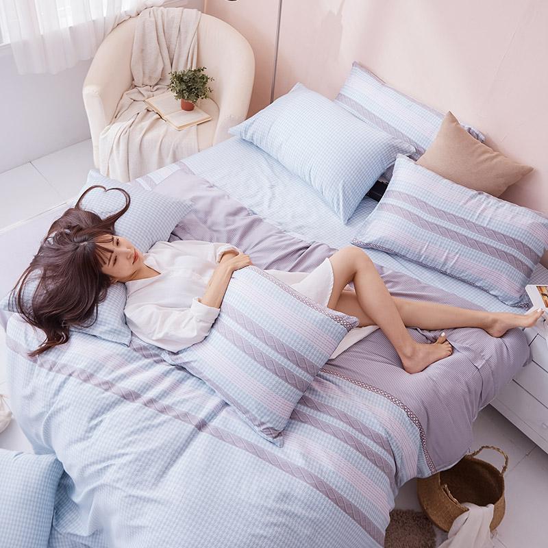 床包/雙人加大【阡陌交織】60支天絲雙人加大床包含二件枕套