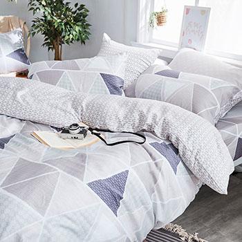 床包/雙人加大【北歐菱線】60支天絲雙人加大床包含二件枕套