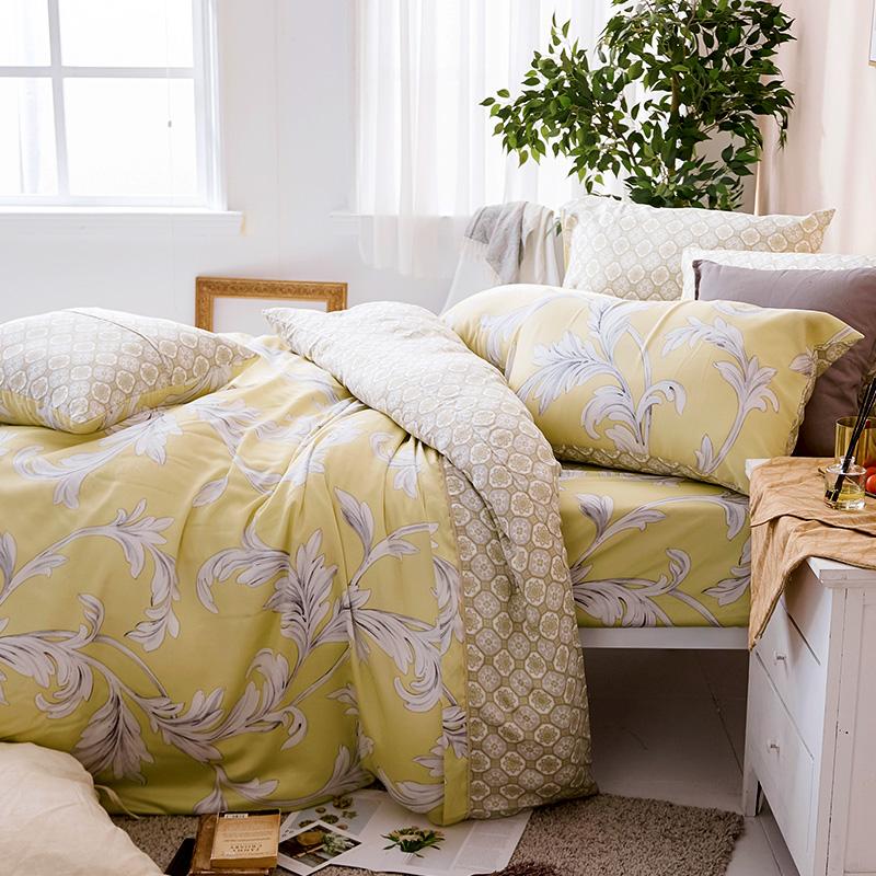 床包/雙人加大【覓見微熙】60支天絲雙人加大床包含二件枕套