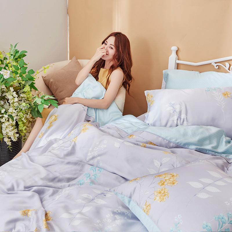 床包/雙人加大【珊朵拉】40支天絲雙人加大床包含兩件枕套