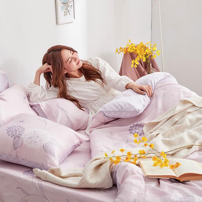 床包/雙人加大【蔓依】60支天絲雙人加大床包含二件枕套